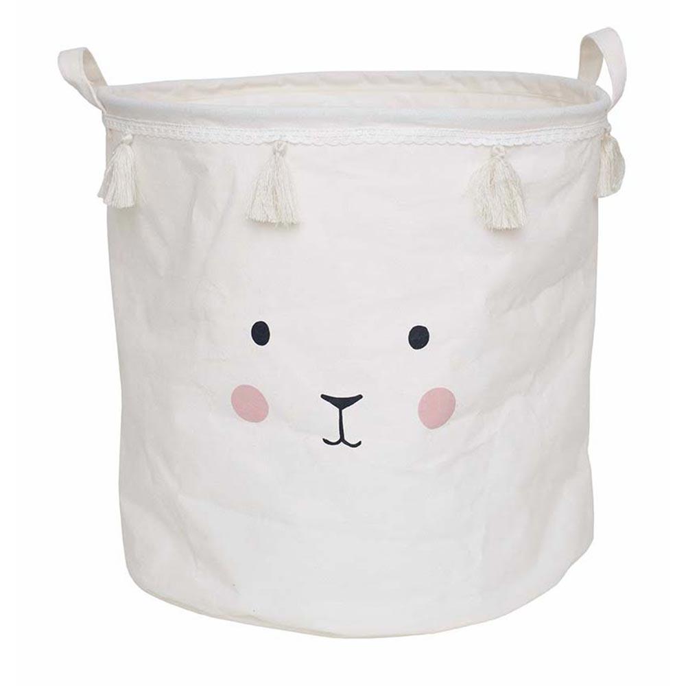 Aufbewahrungskorb Bunny weiß (ø 40 cm)