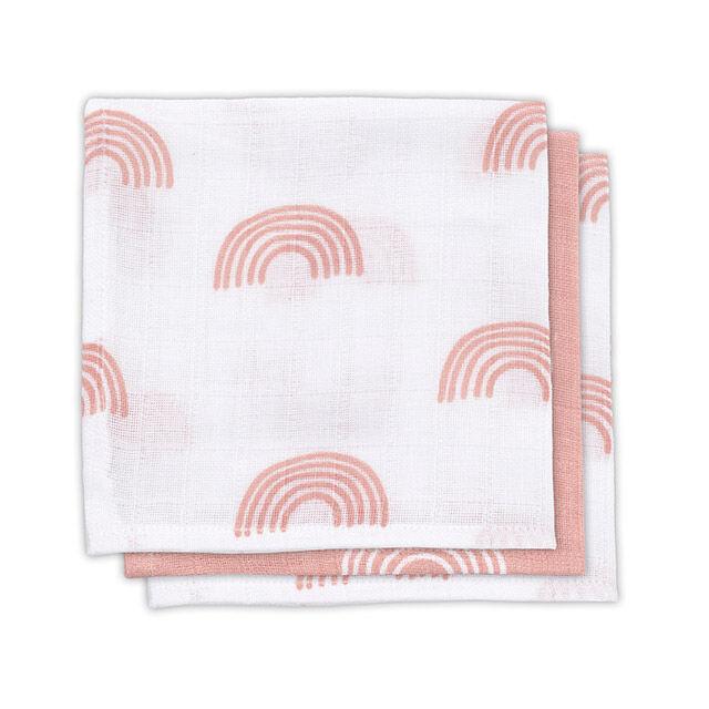 Spucktücher Regenbogen rosa 3er Pack