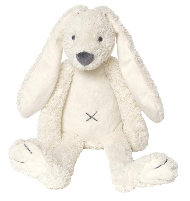 Plüsch Hase Kaninchen Stofftier Kuscheltier cremeweiß 38 cm