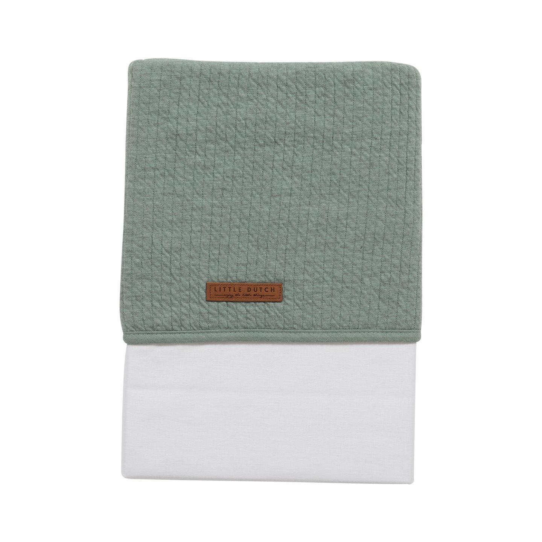 Babybettlaken Wiegenlaken Pure mint (Gr. 70x100 cm)