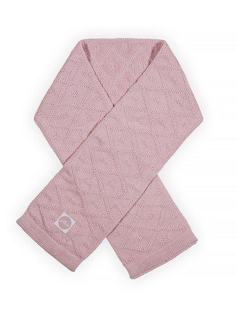 Strick Schal Diamond vintage rosa