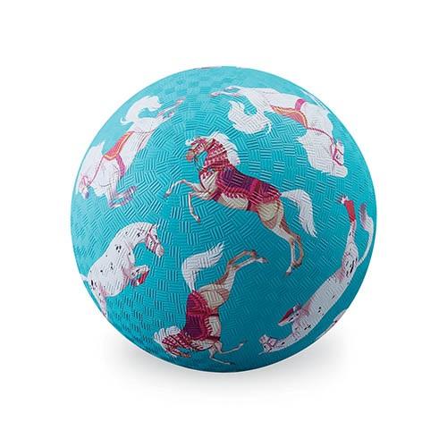 Naturkautschuk Ball Pferde hellblau Ø 13 cm