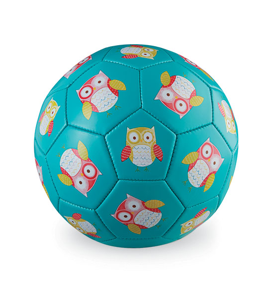 Fußball Eule türkis Ø 18 cm