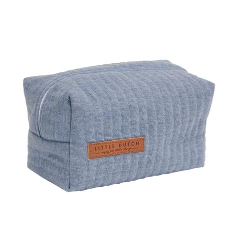 Pflegetasche Täschchen Etui für Unterwegs Pure blau