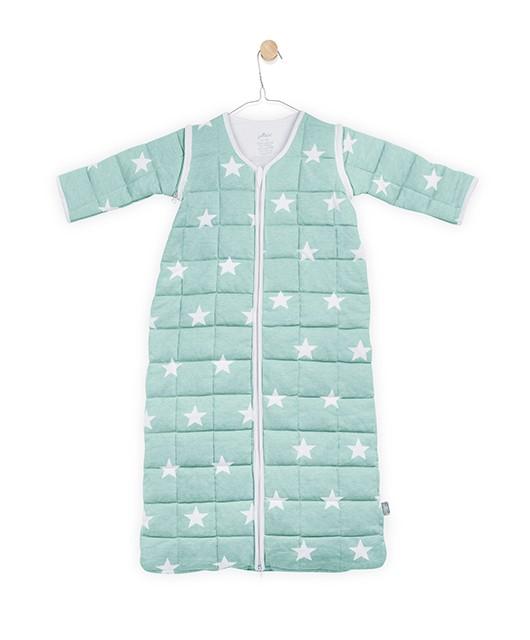 4 Jahreszeiten Schlafsack mit abnehmbaren Ärmeln Sterne jade Gr. 90 cm
