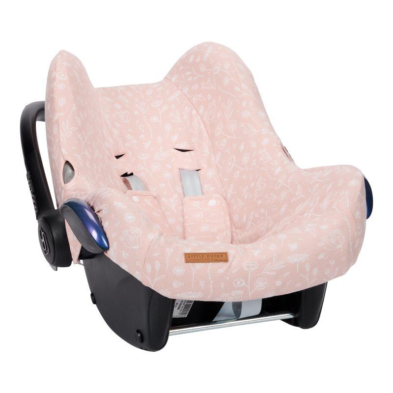 Bezug für Babyschale Wild Flowers rosa