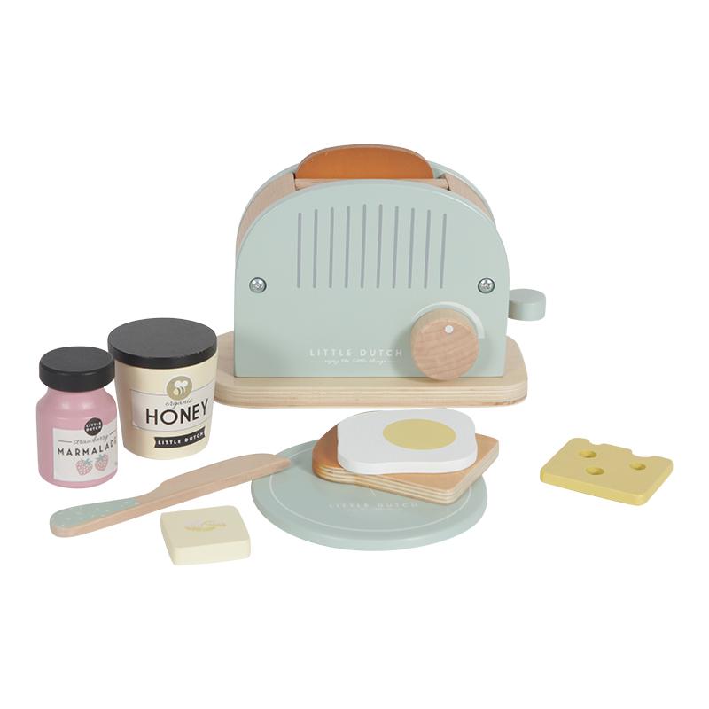 Holz Toaster Set mint