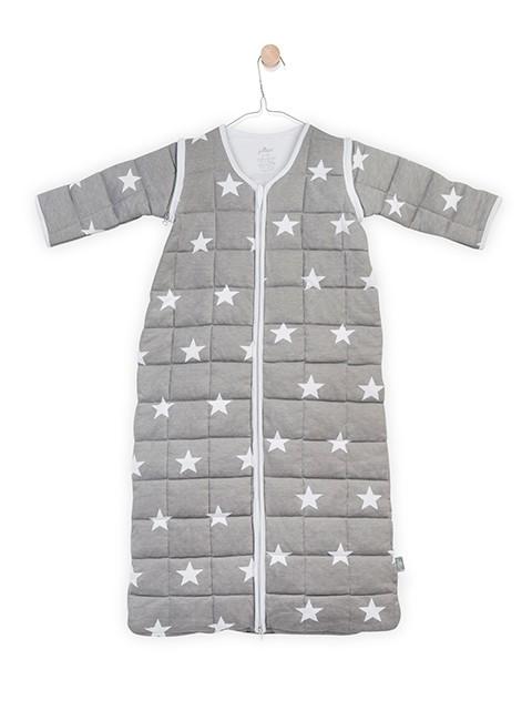 Schlafsack 4 Jahreszeiten gesteppt Sterne grau (Gr. 110 cm)
