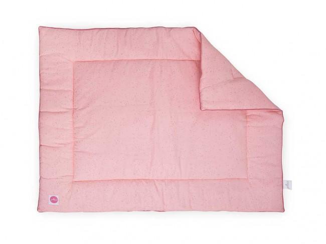 Laufgittereinlage Krabbeldecke Mini Dots Pünktchen rosa (80x100 cm)