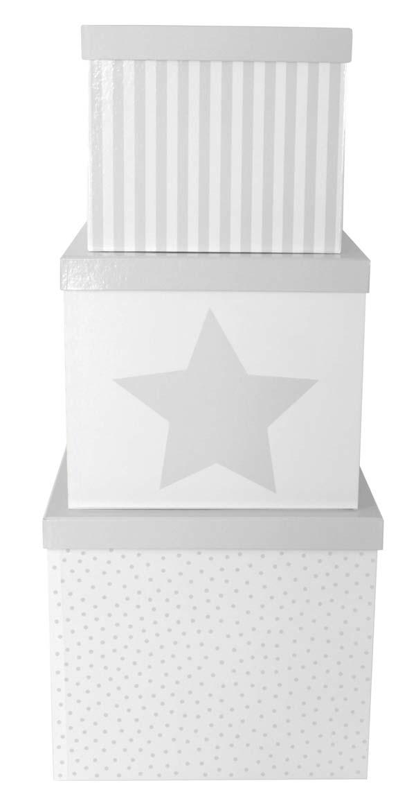 Aufbewahrungsboxen 3er Set grau