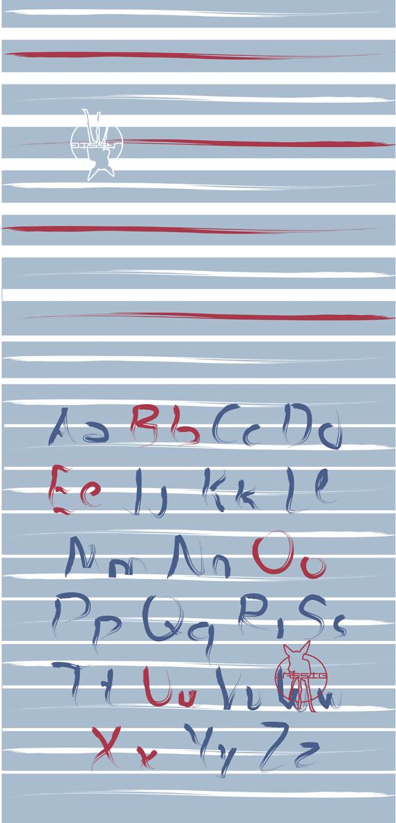 Lässig - Twister Kids - Abc blue