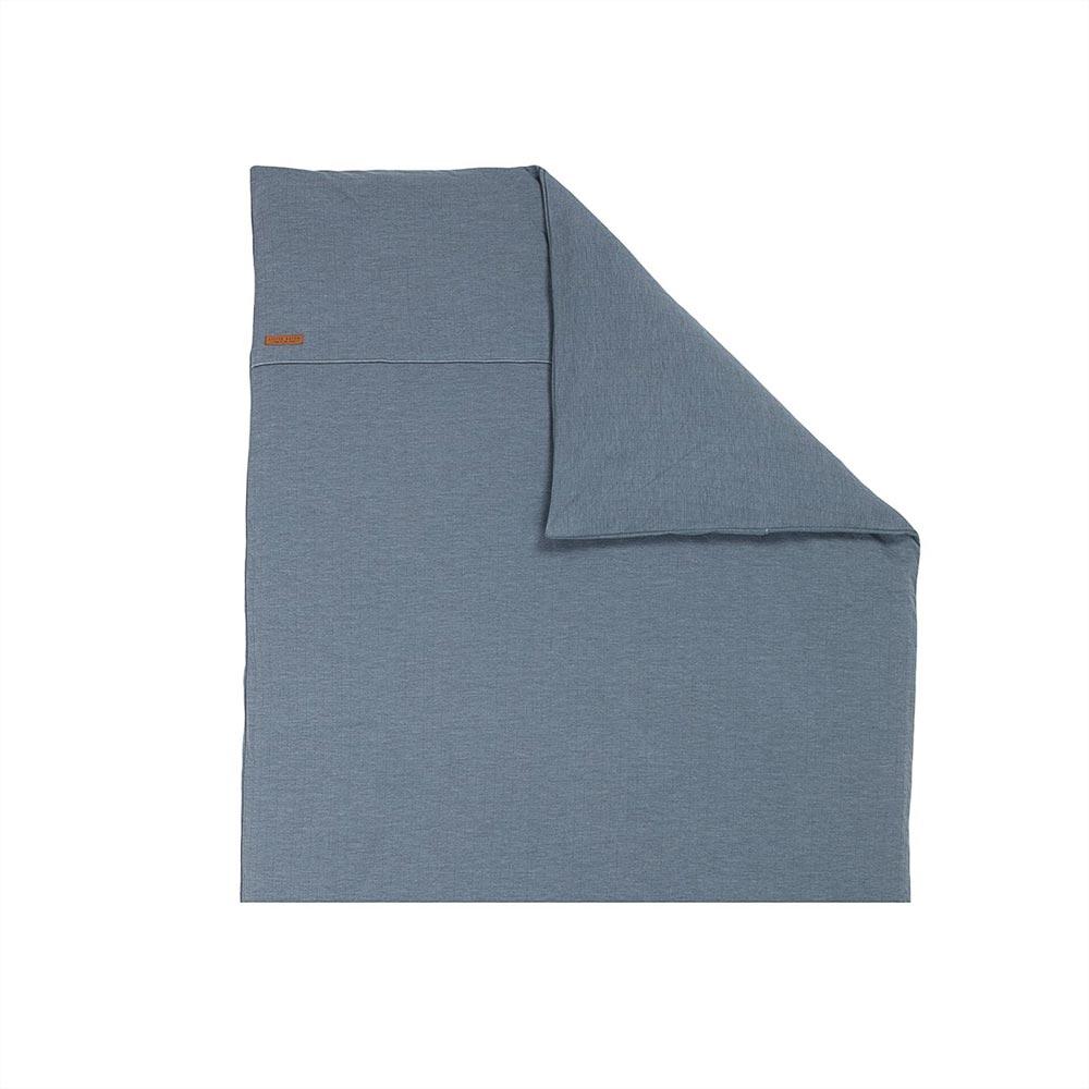 Kinderwagen Kissenbezug Pure blau (Gr. 80x80 cm)