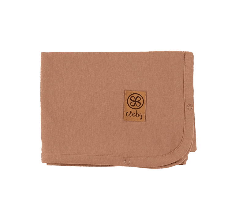 Decke mit UV-Schutz (UPF 50+) kokosnussbraun (Gr. 95x73 cm)
