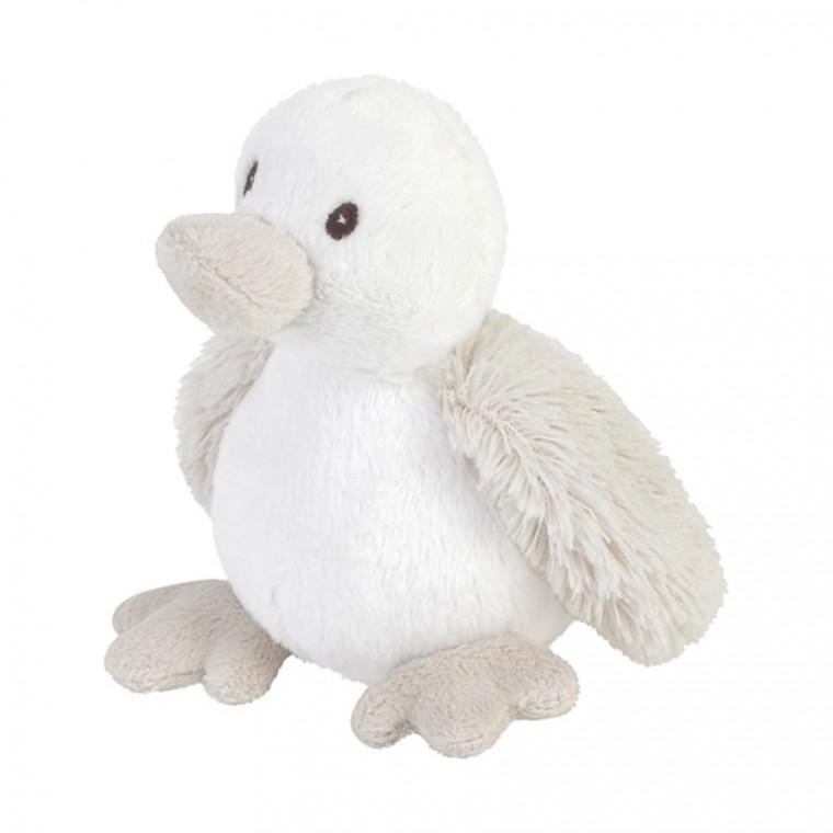 Plüsch Ente Stofftier Kuscheltier cremeweiß 12 cm