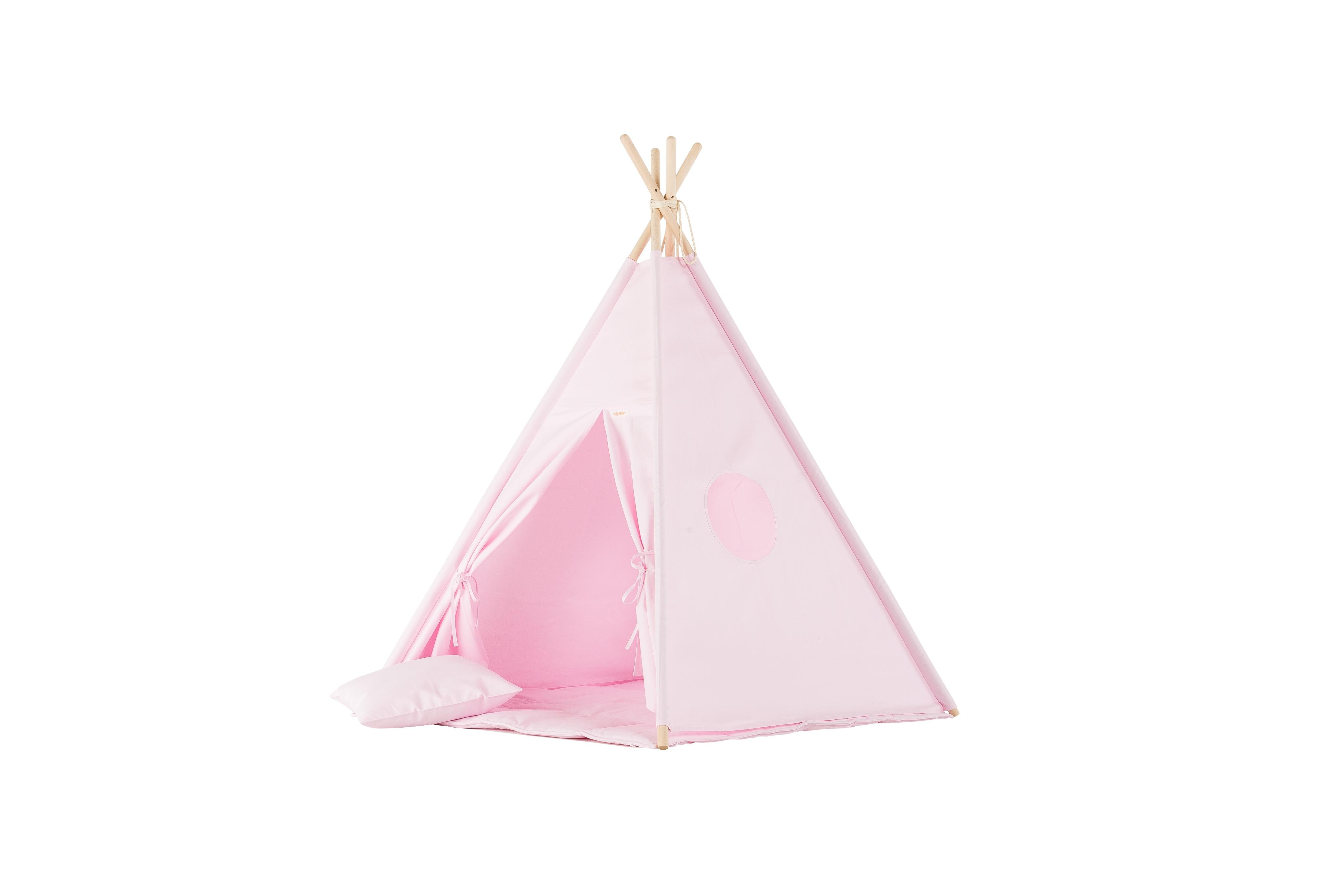 Stoffzelt Tipi Spielzelt rosa
