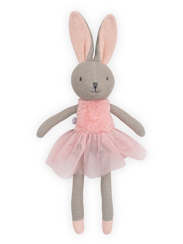 Jollein Stofftier Kuscheltier Hase Kaninchen Mädchen Nola rosa 50 cm