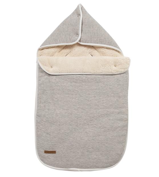Fußsack für Babyschale Pure grau