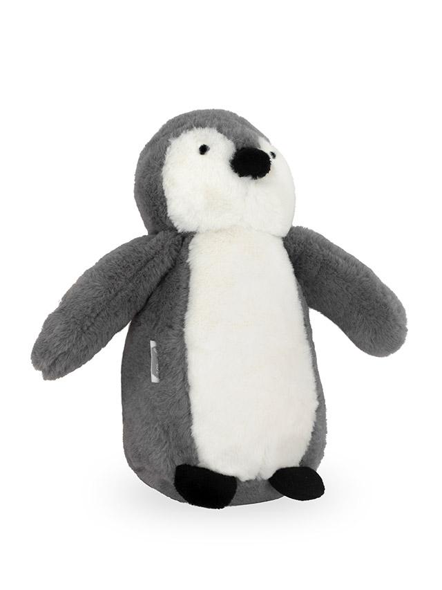 Jollein Stofftier Kuscheltier Pinguin grau 23 cm