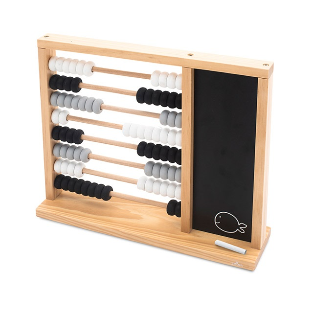 Holz Abakus Zählrahmen mit Schiefertafel und Kreide