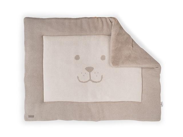 Laufgittereinlage Krabbeldecke Bär sand 80 x 100 cm