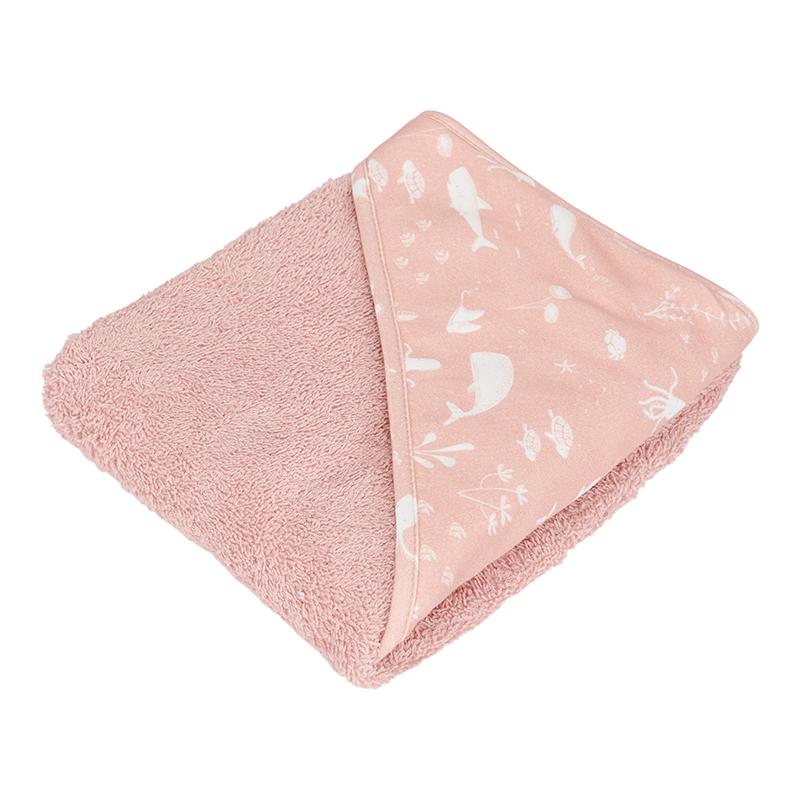 Kapuzenhandtuch Frottee Ocean rosa
