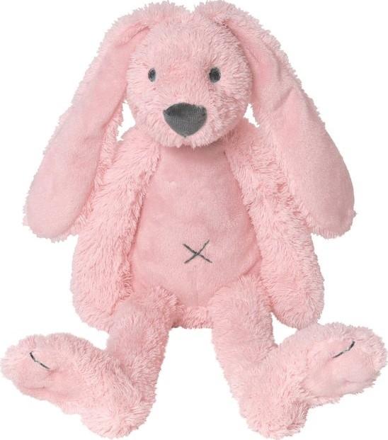 Plüsch Hase Kaninchen Stofftier Kuscheltier rosa 38 cm