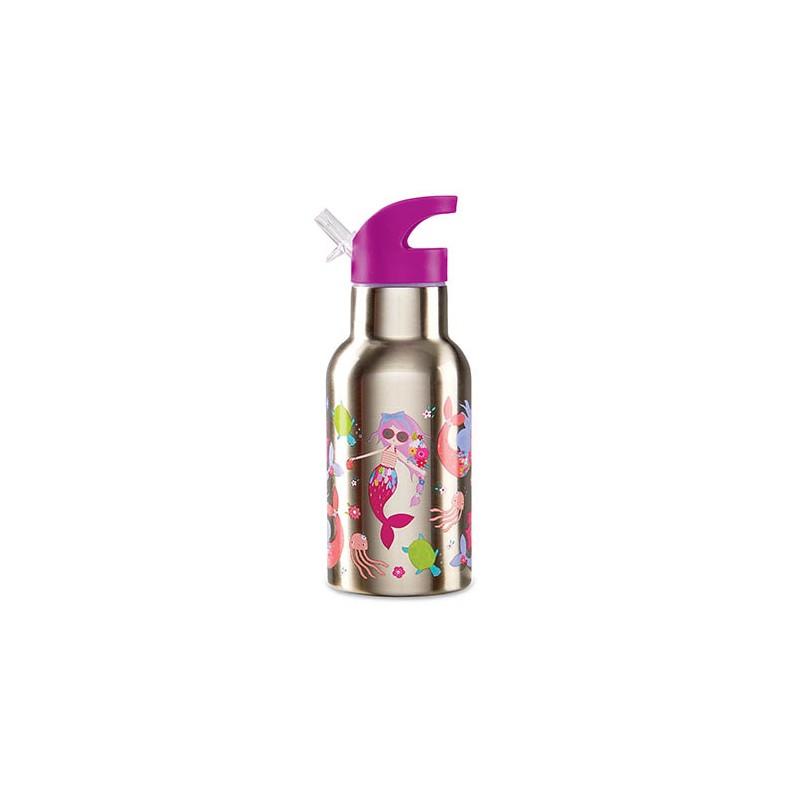 Trinkflasche aus Edelstahl Meerjungfrauen lila
