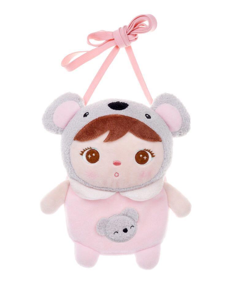 Umhängetasche Stoffpuppe Koalabär Mädchen rosa