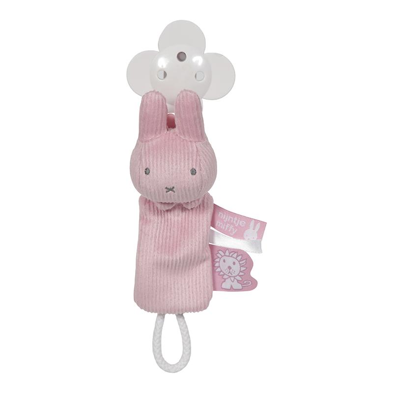 Miffy Hase Schnullerkette Cord rosa