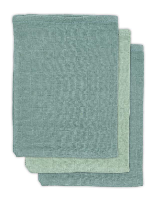 Jollein Waschlappen Bambus stonegreen mint 3er Set
