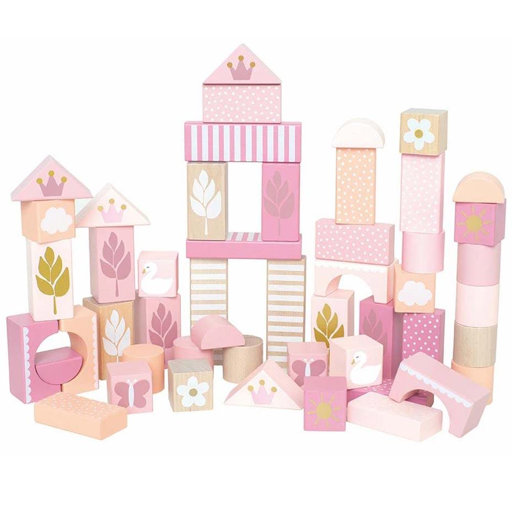 Holz Bauklötze rosa