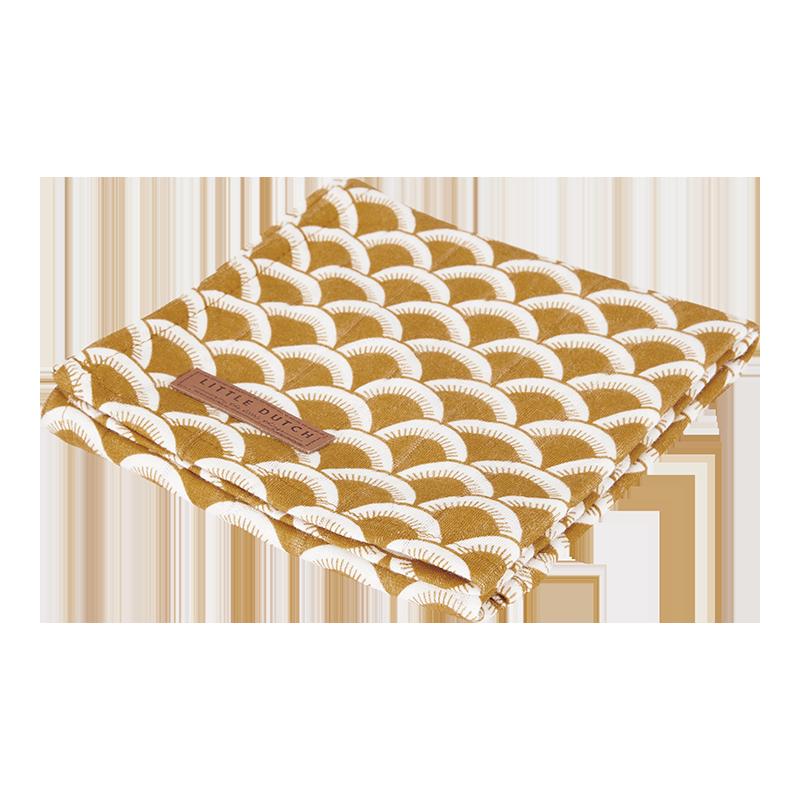 Musselin Swaddle Tuch / Pucktuch Sunrise ocker (Gr. 120x120 cm)