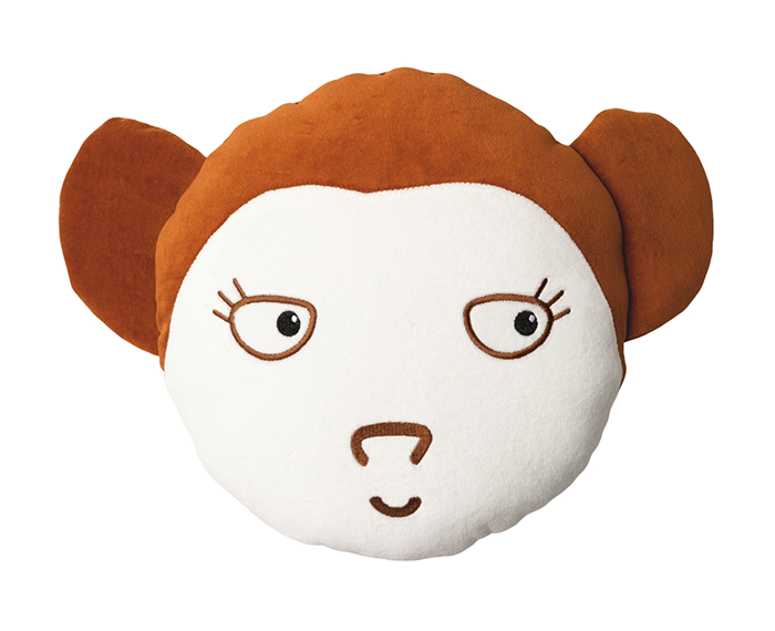 Samt Spielkissen Affe 36 cm