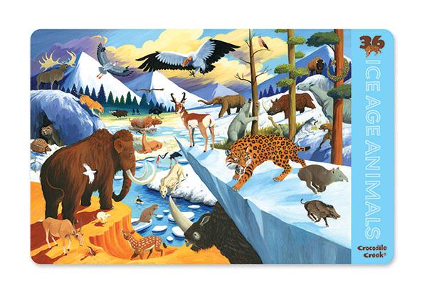 Platzset Tischset Eiszeit Tiere (28cmx33,5 cm)