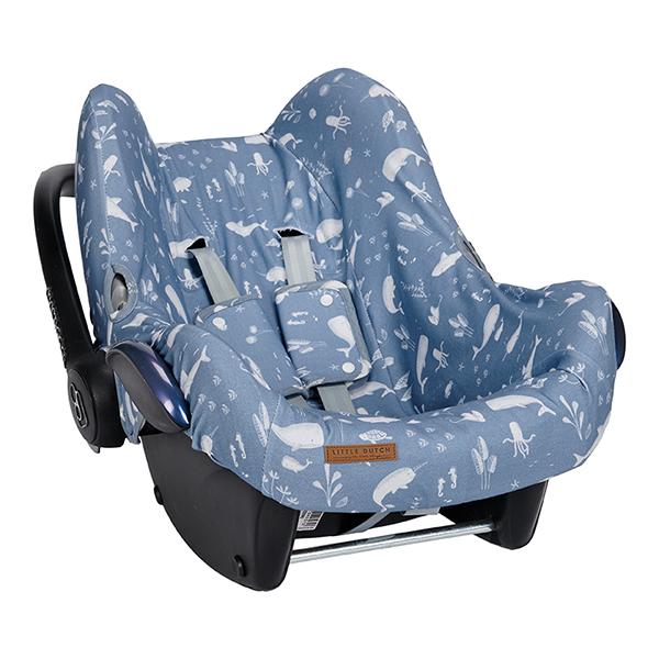 Bezug für Babyschale Ocean blau