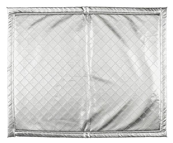 Laufgittereinlage Krabbeldecke silber (80x100 cm)