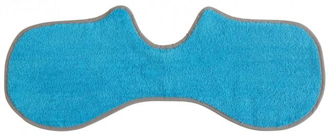 Spucktuch Frottee türkisblau grau