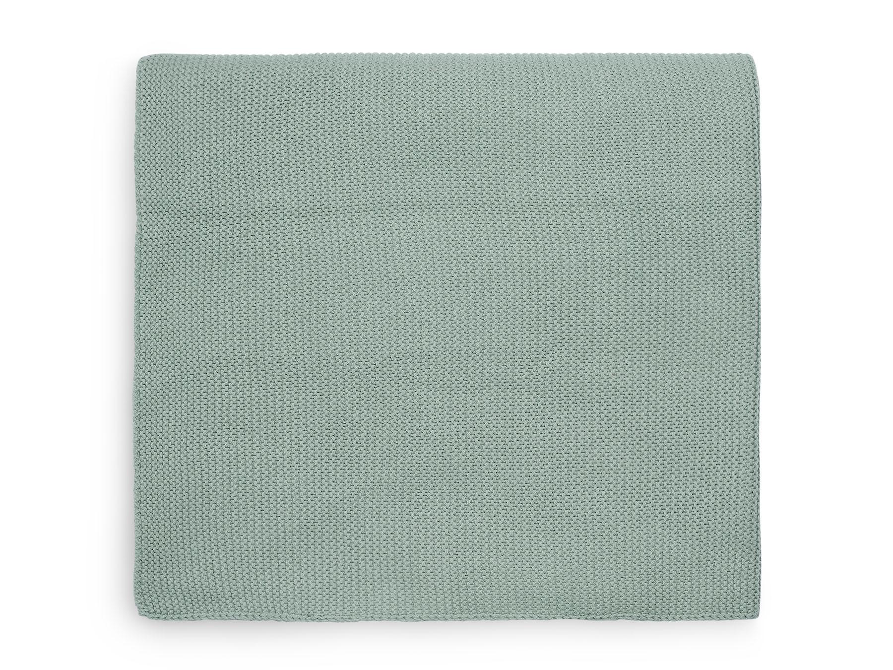 Babydecke Strickdecke Basic Knit stone green (75x100 cm)