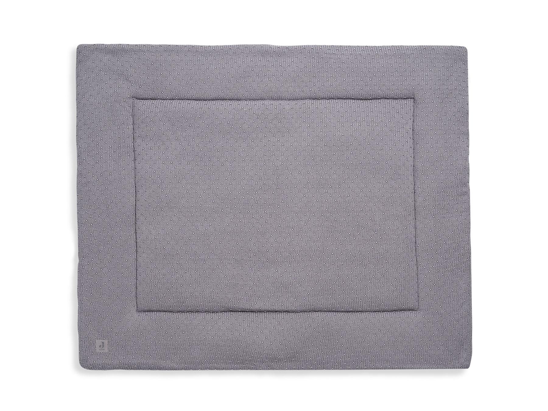 Laufgittereinlage Krabbeldecke Strick Bliss Knit grau (Gr. 80x100 cm)
