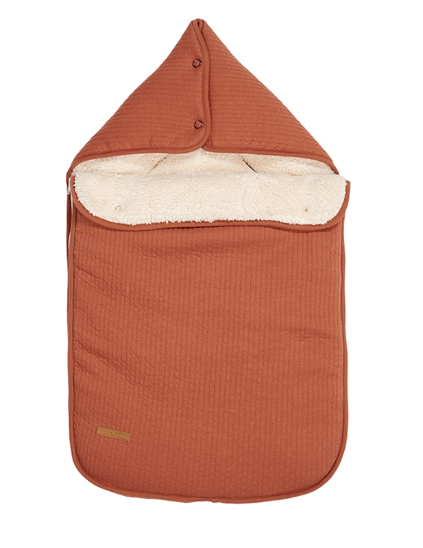 Fußsack für Babyschale Pure rost orangerot