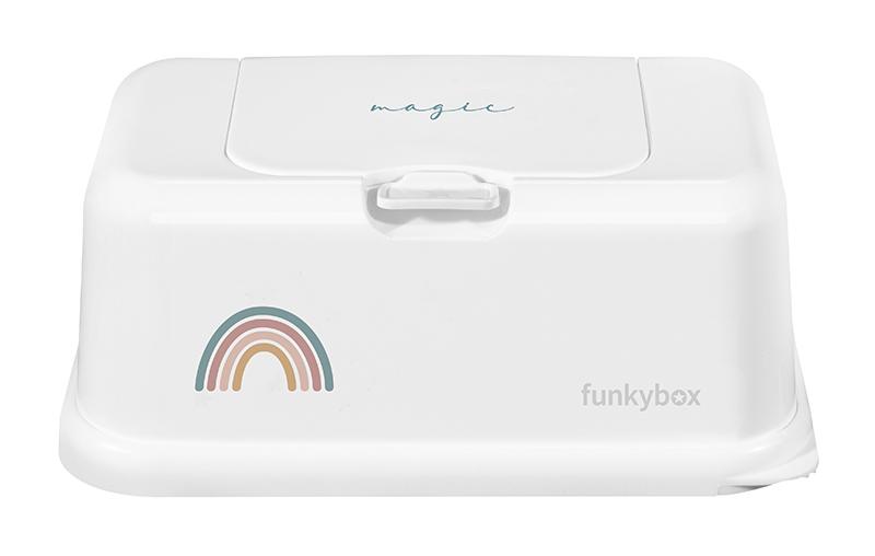 Feuchttücher Aufbewahrungsbox Regenbogen weiß