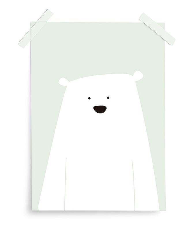 Poster Artic Dream Eisbär mint 30x40 cm
