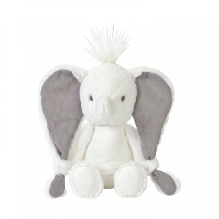 Plüsch Elefant Stofftier Kuscheltier weiß 22 cm