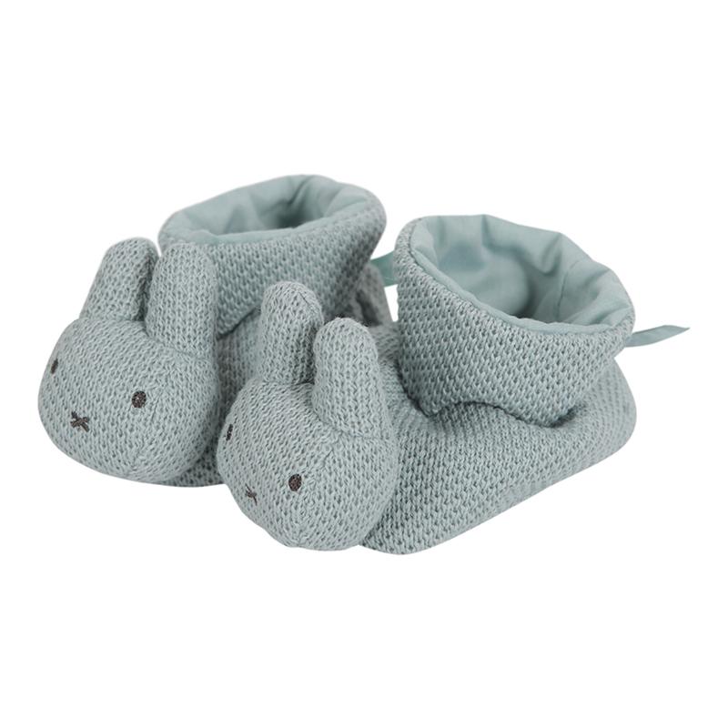 Baby Hausschuhe Pantoffeln Miffy Hase Strick stonegreen onesize