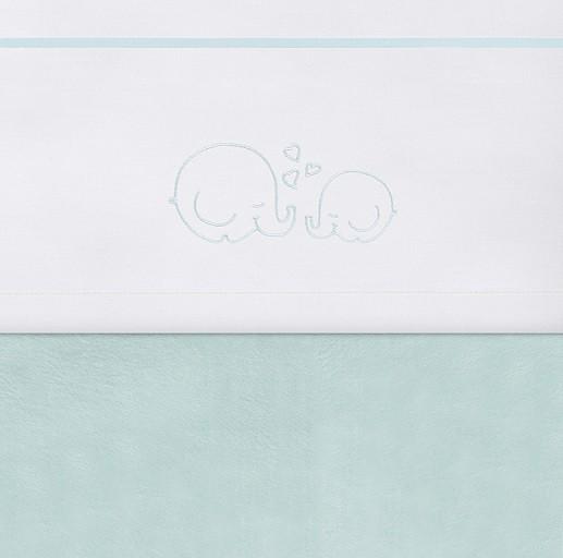 Jollein Laken Bubbles der Elefant türkis 120 x 150 cm