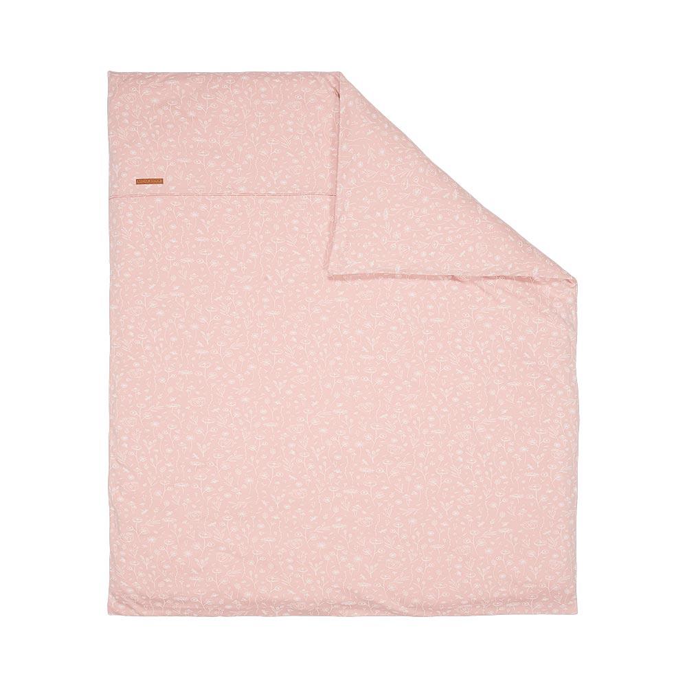 Kinderwagen Kissenbezug Wild Flowers pink rosa (Gr. 80x80 cm)