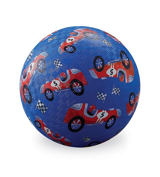 Naturkautschuk Ball Rennwagen blau Ø 18 cm