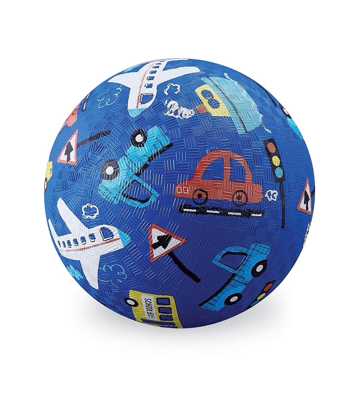 Naturkautschuk Ball Fahrzeuge blau Ø 18 cm
