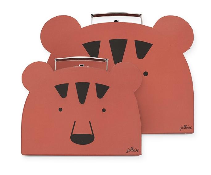 Jollein Spielzeug Koffer Animal Club Bär rostrot orange 2er Set