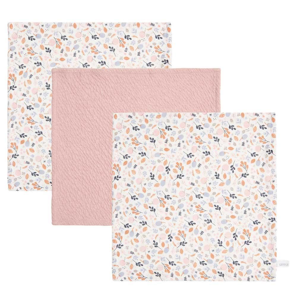 Spucktücher Mundtücher 3er Set Spring Flowers Pure rosa (Gr. 26x26 cm)